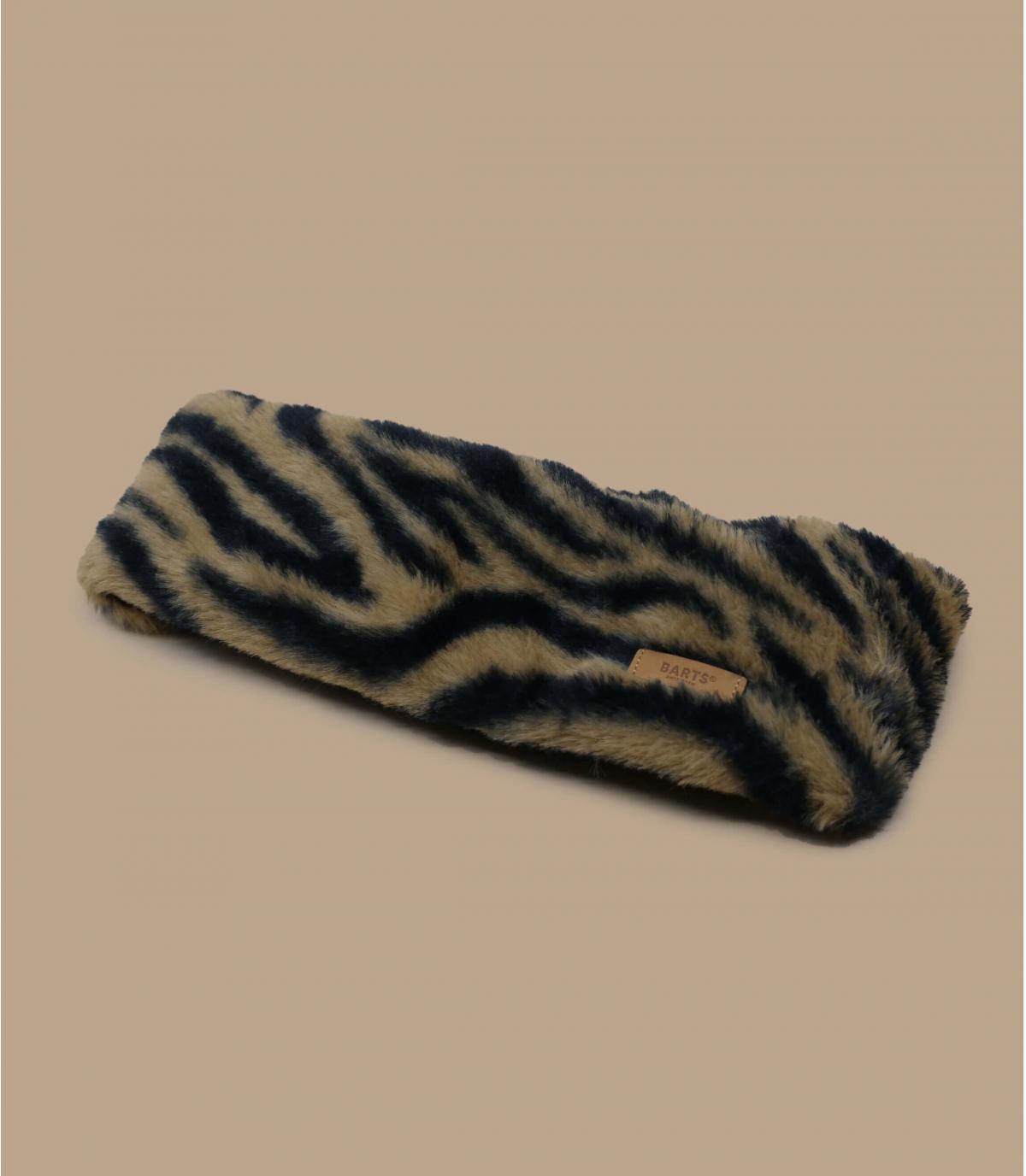Detalles Calla Headband print brown imagen 2