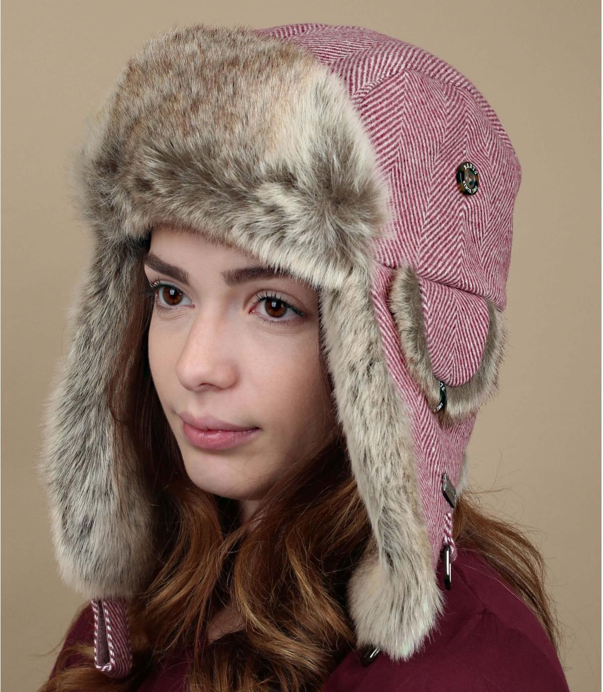 gorro russo rosa pelo