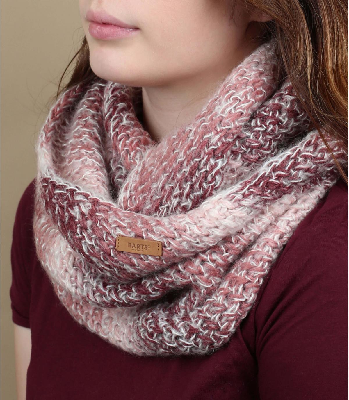 Bufanda rosa gradiente