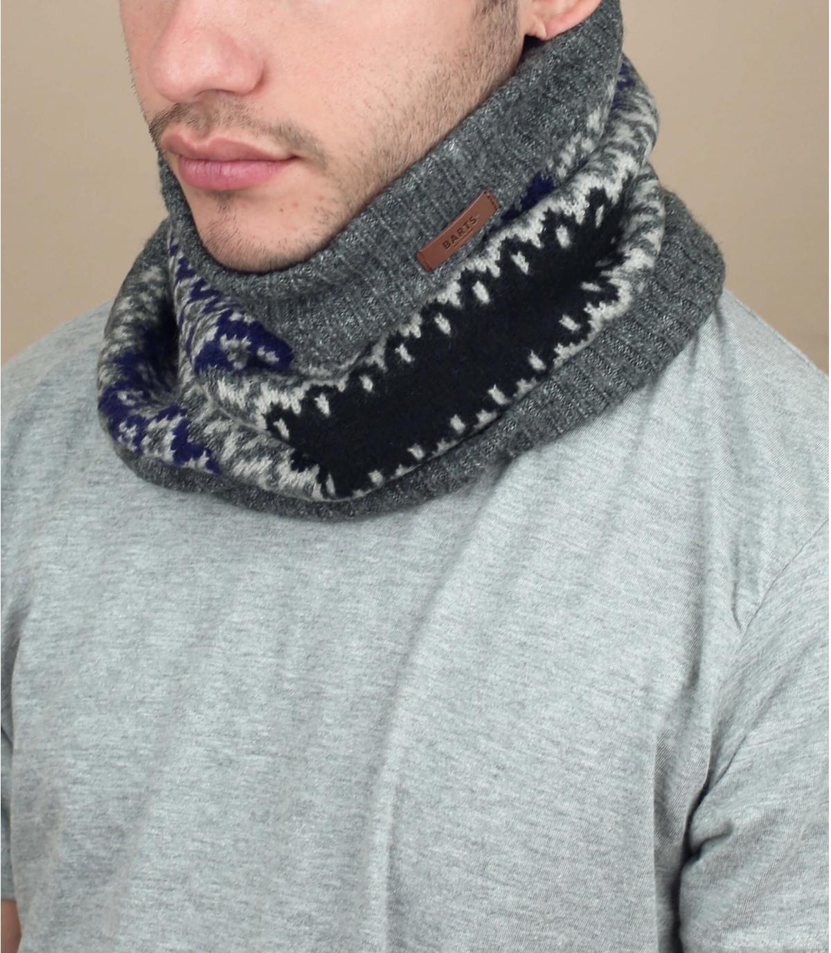 bufanda gris estampado