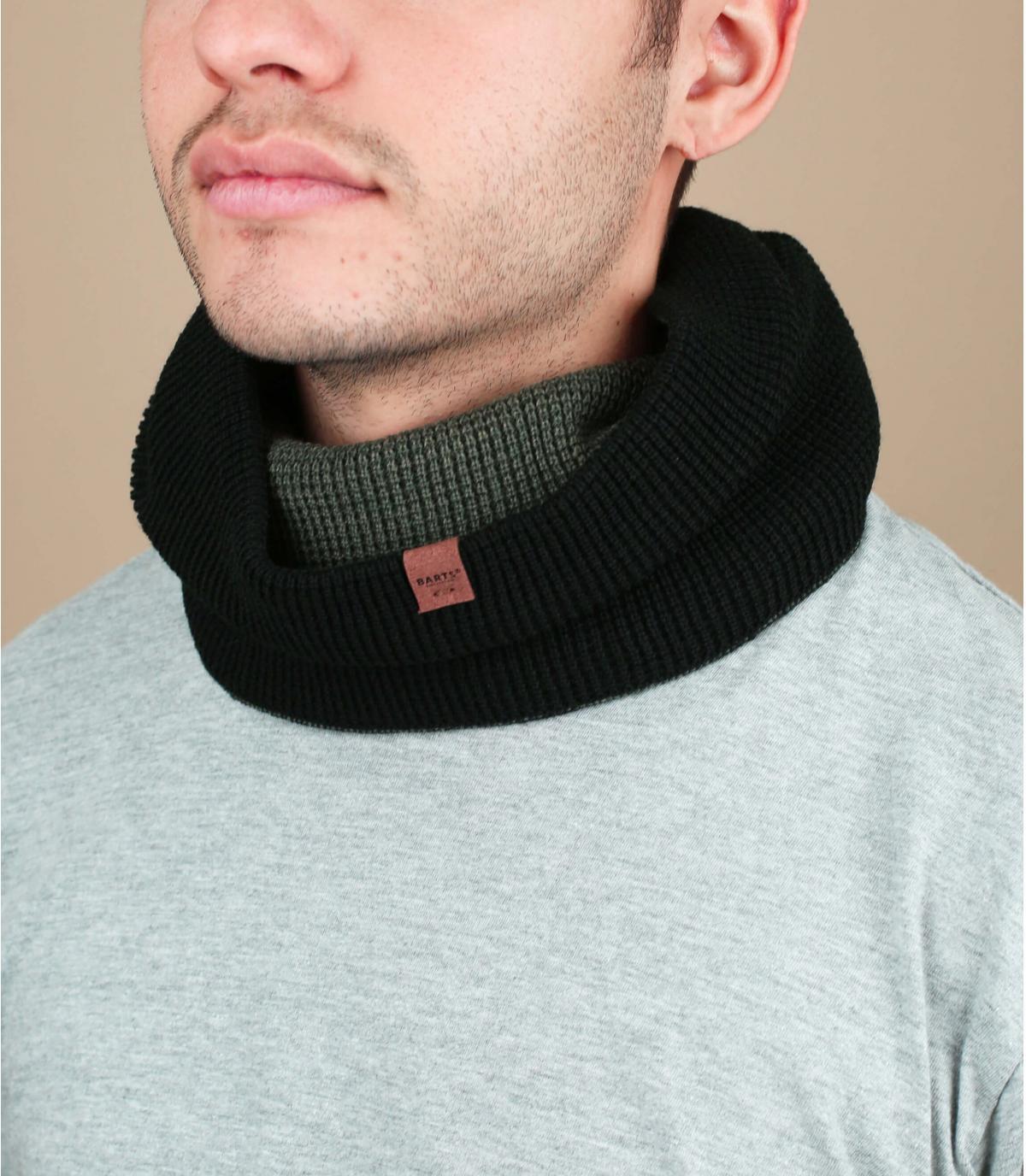 Bufanda reversible negro