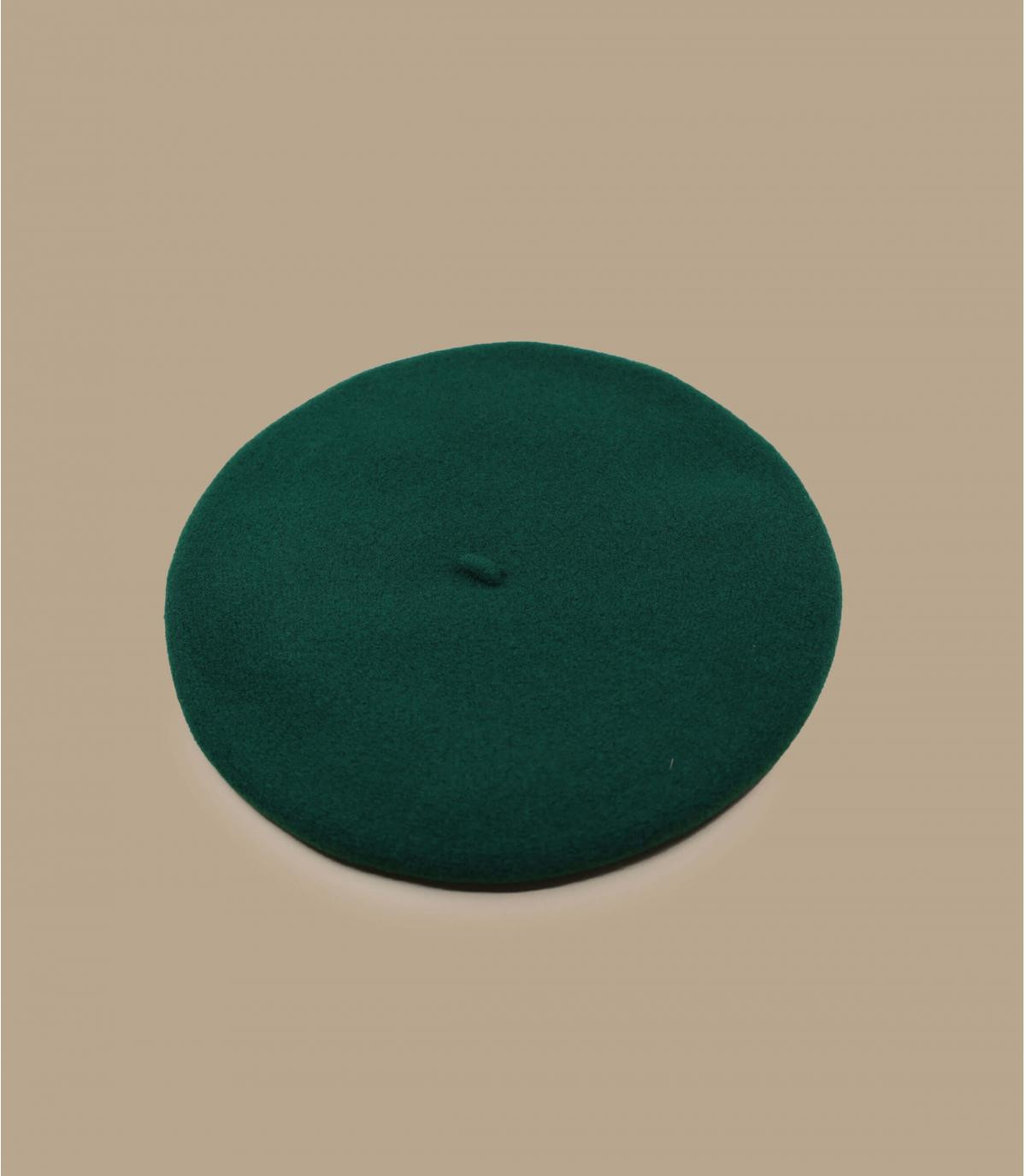 boina verde lana merino