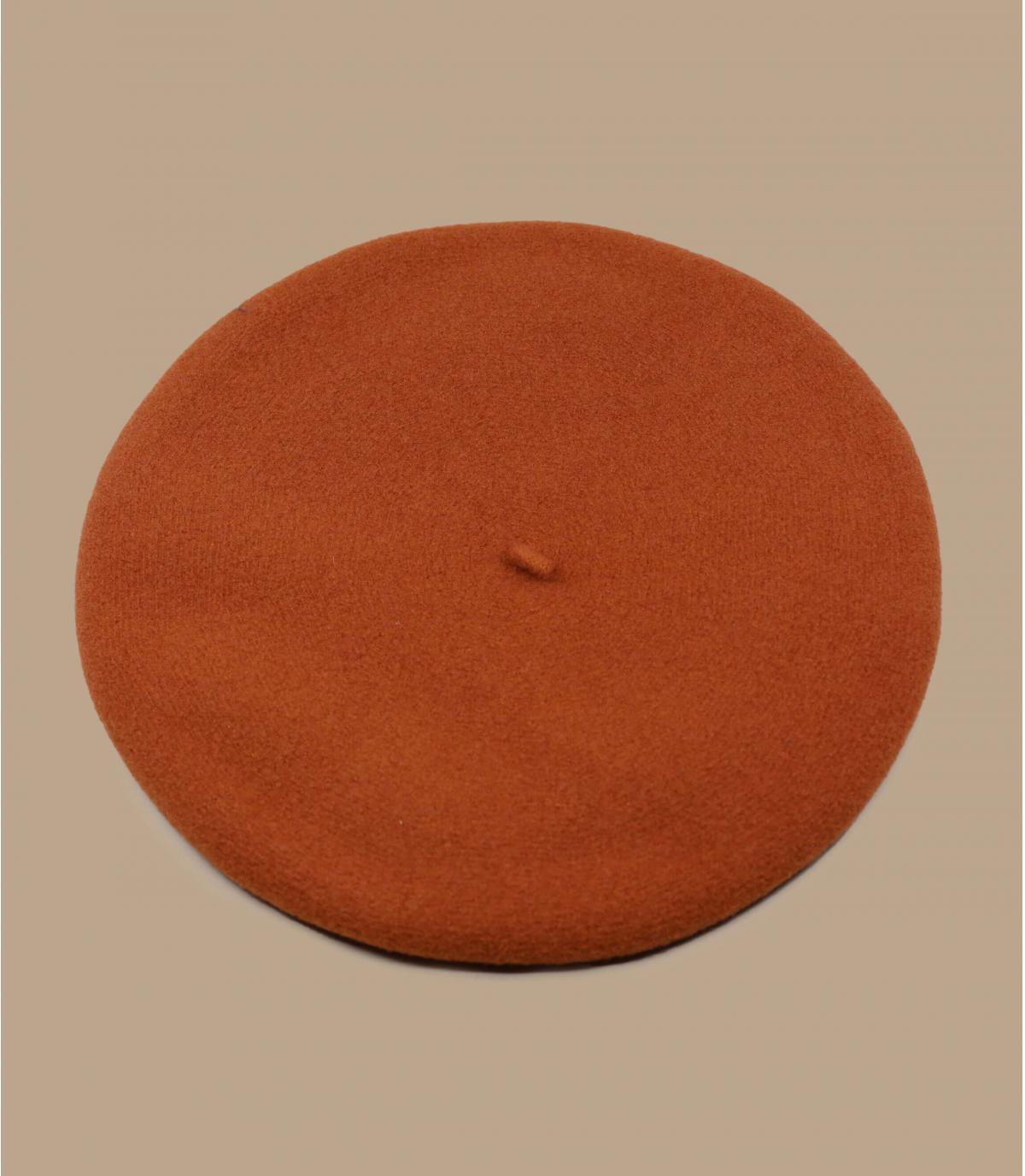 boina naranja lana merino