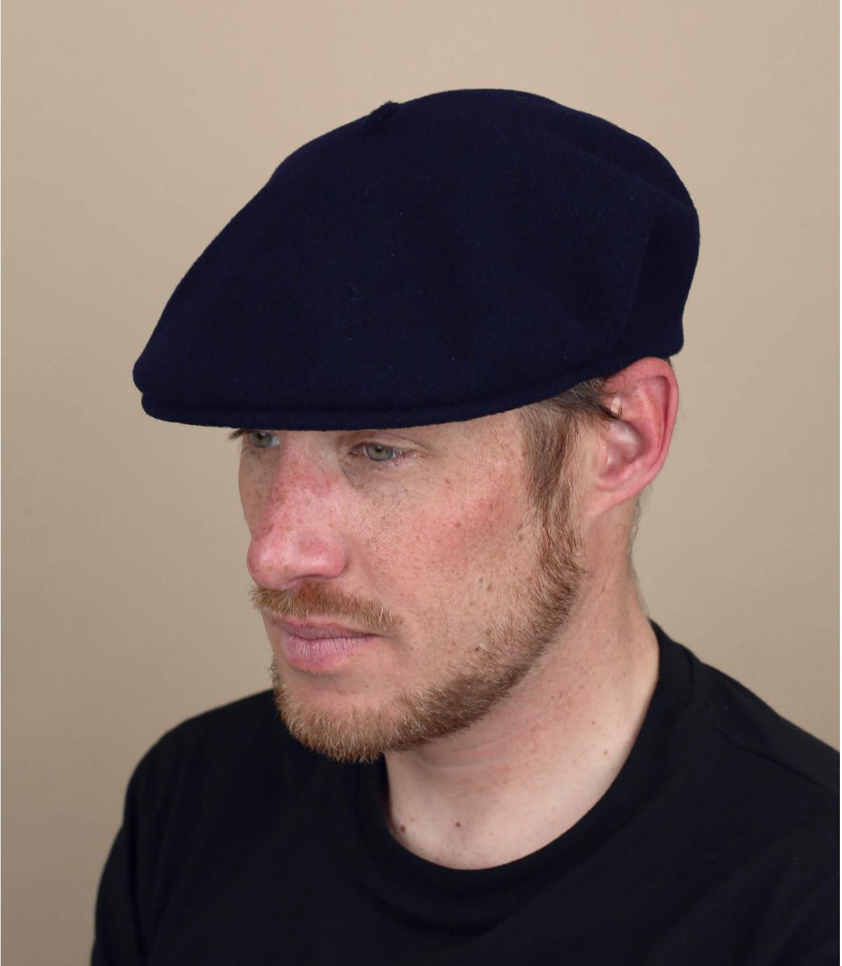 gorra gris lana merino