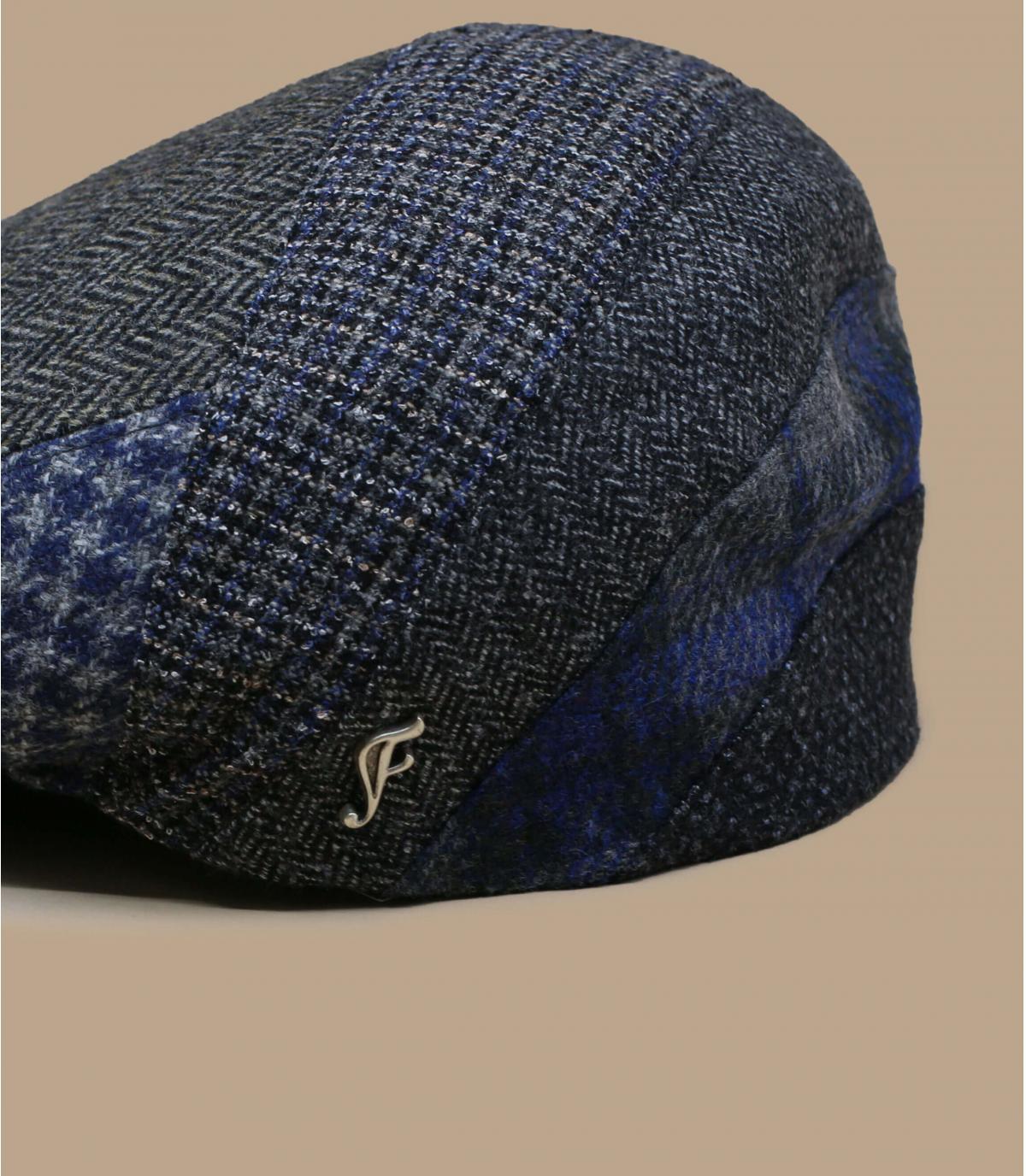 gorra gris lana espiga