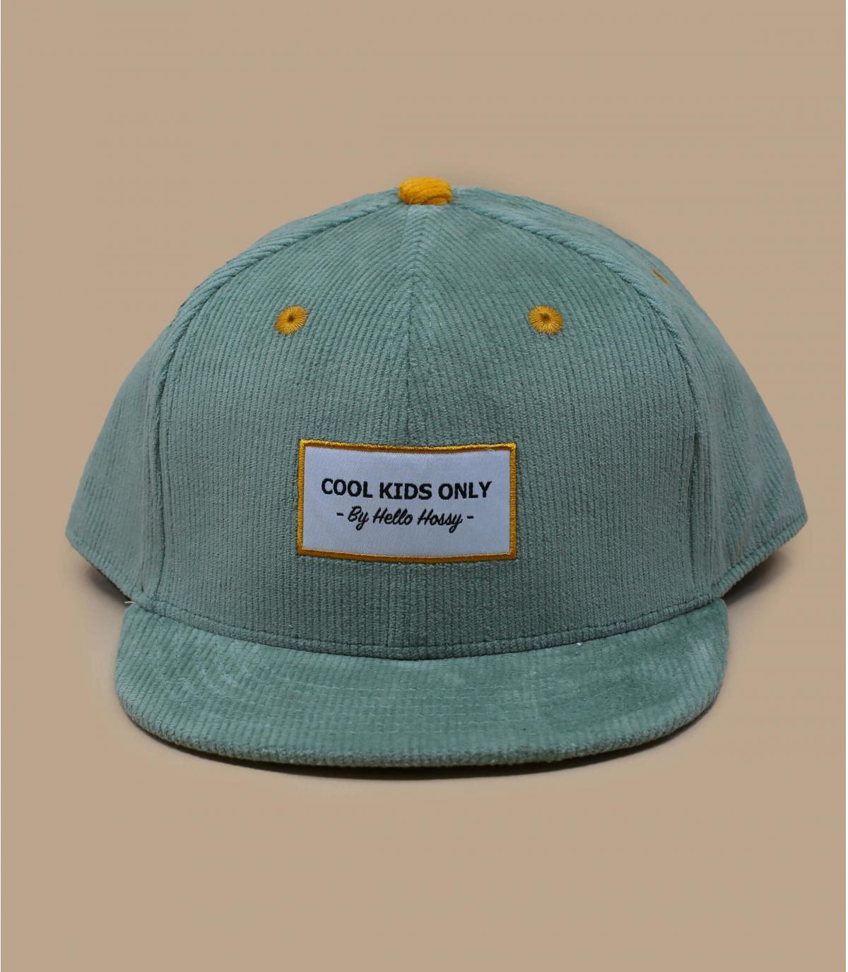 gorra niño pana azul