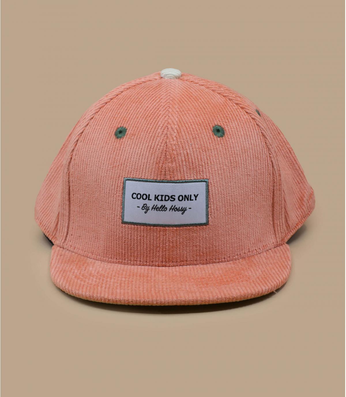 gorra niña pana rosa