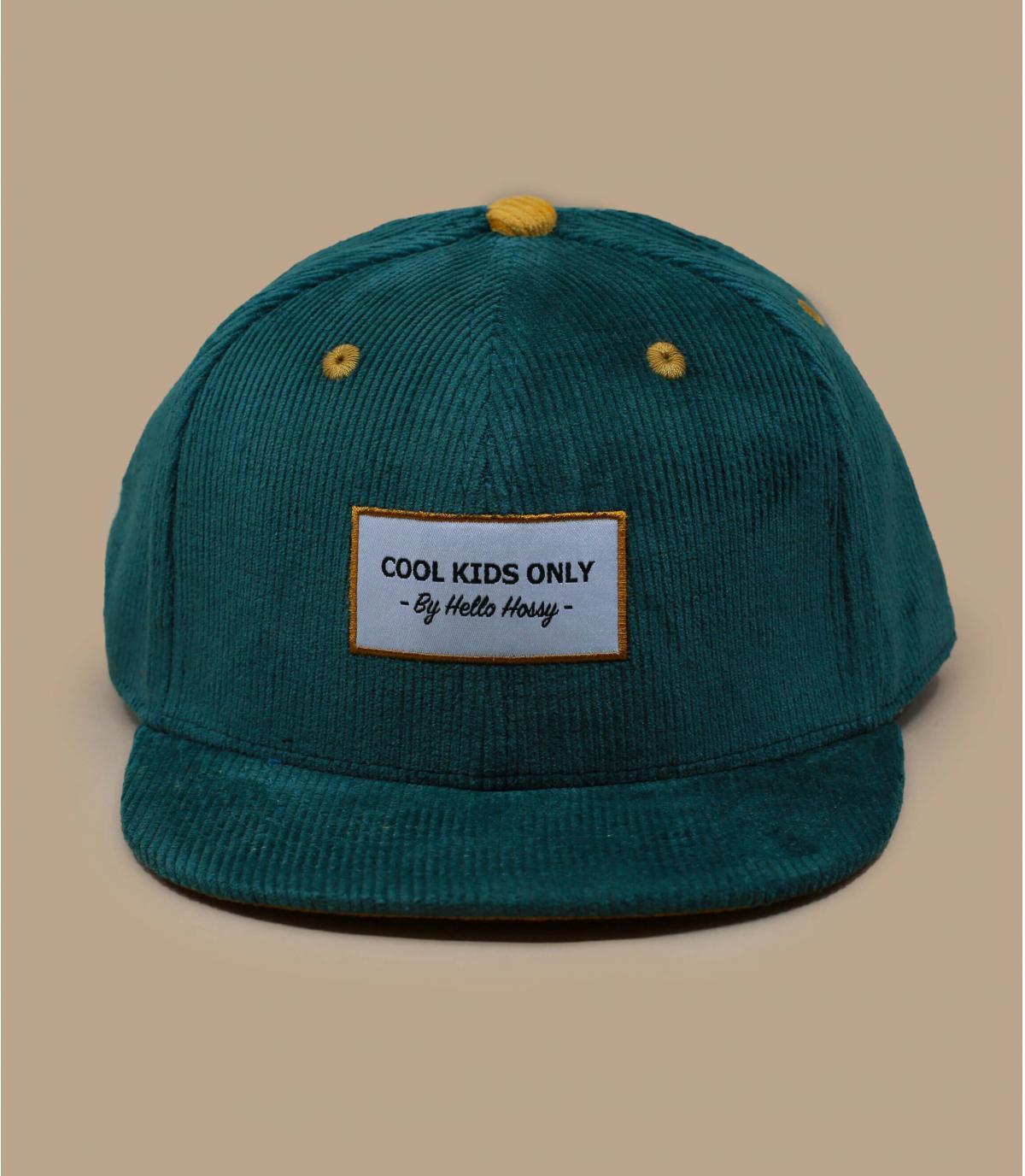 gorra niño pana verde