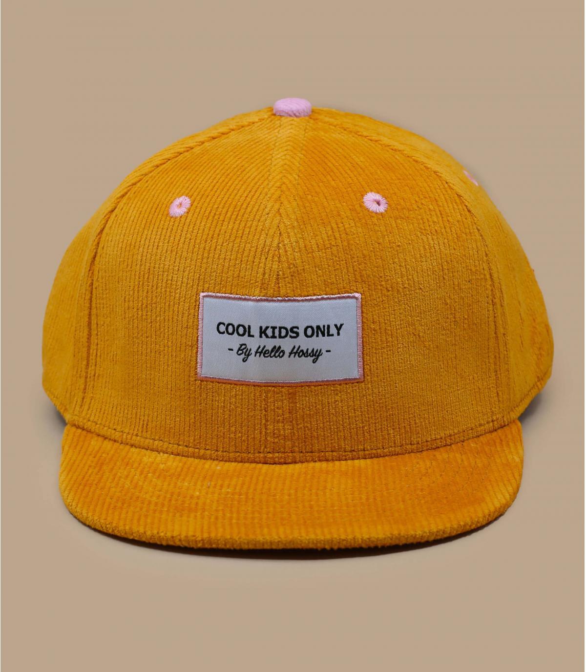 gorra niño pana amarillo