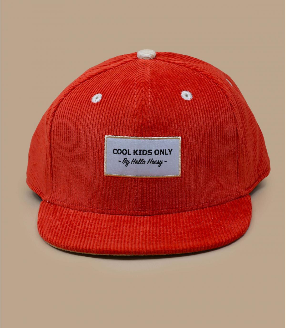 gorra niño pana naranja.