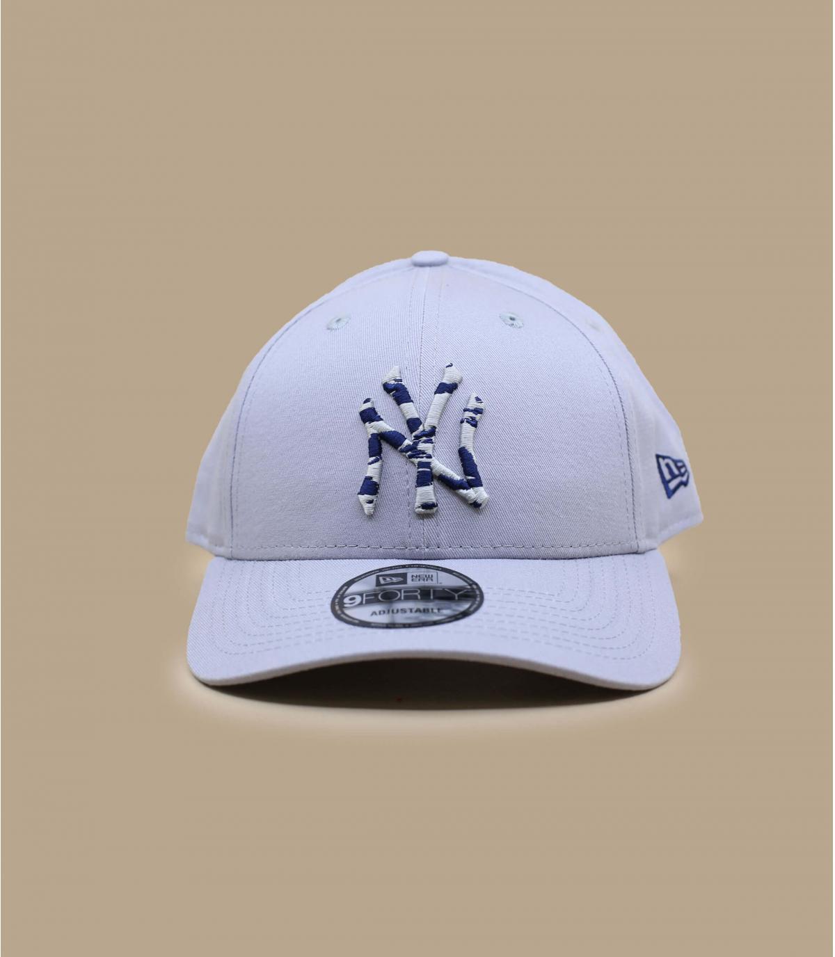 gorra NY gris estampado