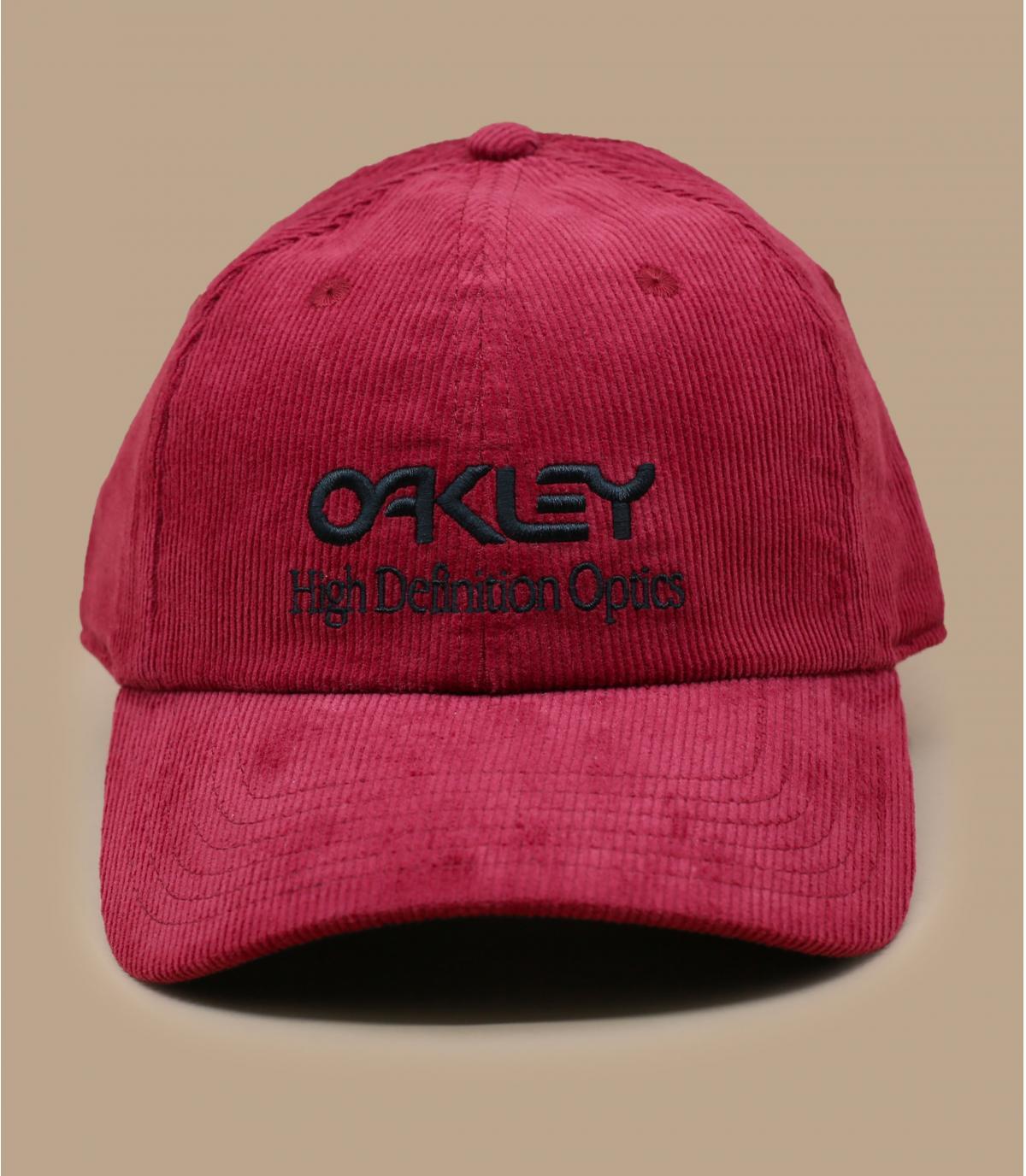 gorra Oakley pana rojo