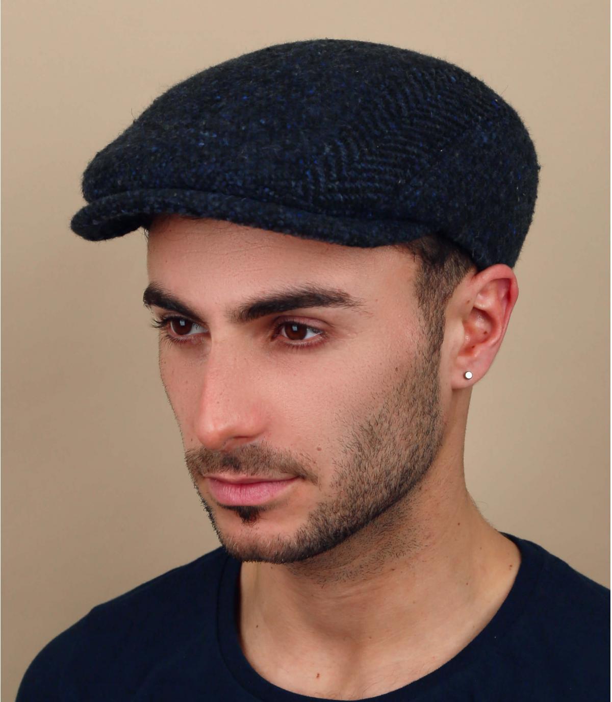 gorra azul marino lana