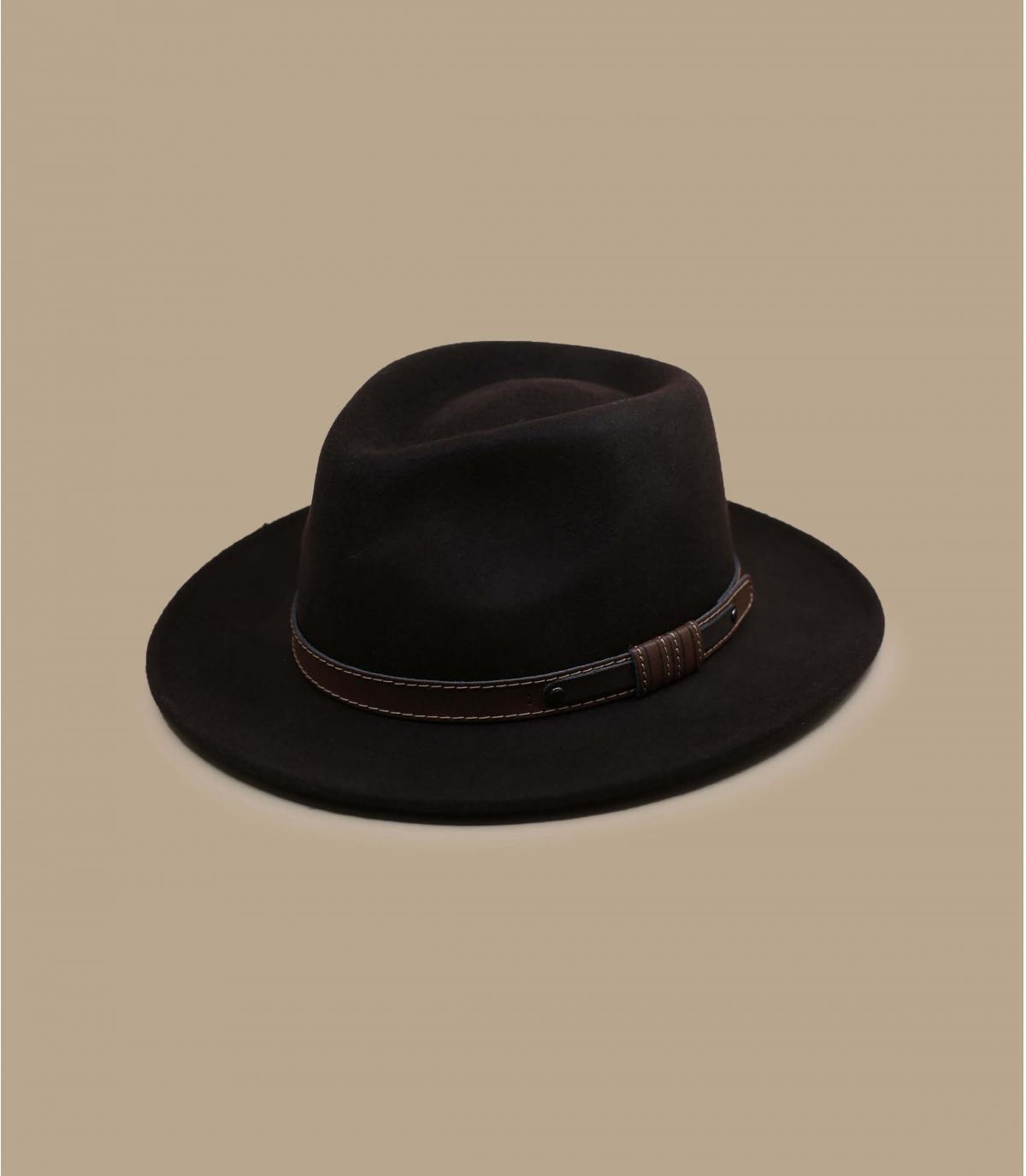 sombrero marrón fieltro