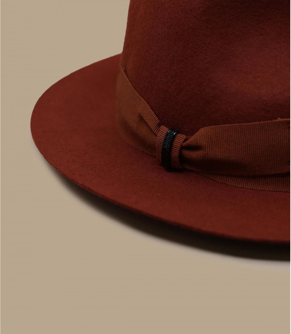 sombrero fieltro naranja