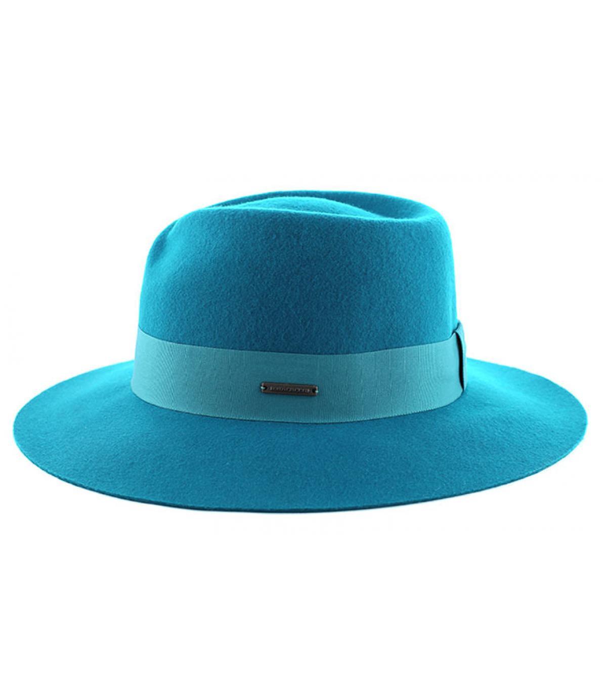Sombrero mujer fedora azul
