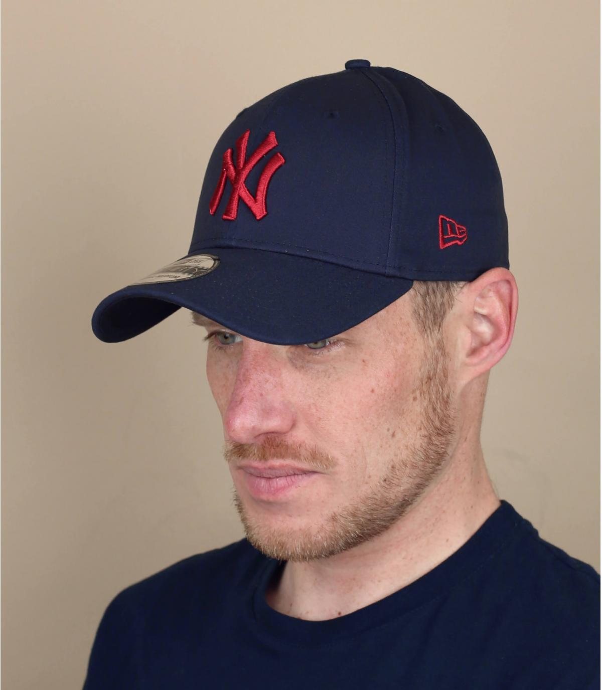 gorra NY azul rojo