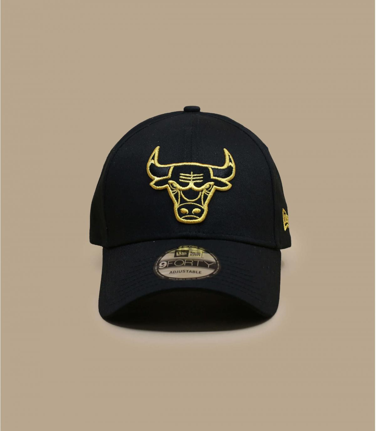 Detalles Metallic Logo 940 Bulls black gold imagen 2