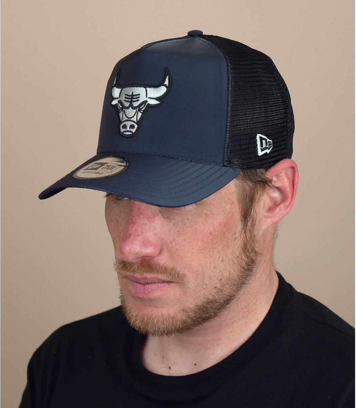 trucker Bulls negro plata