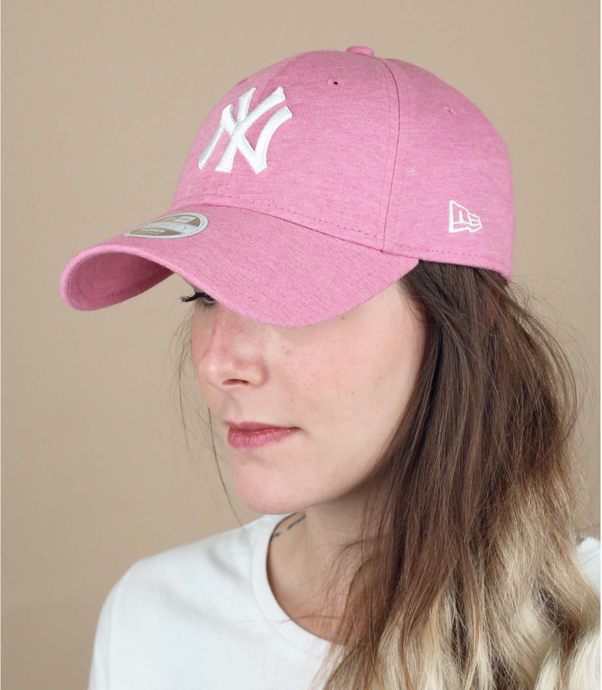 gorra NY mujer rosa