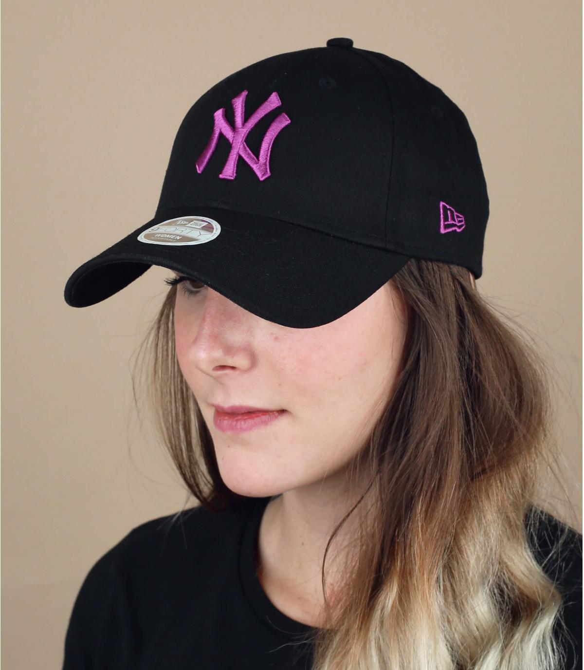 gorra NY mujer negro