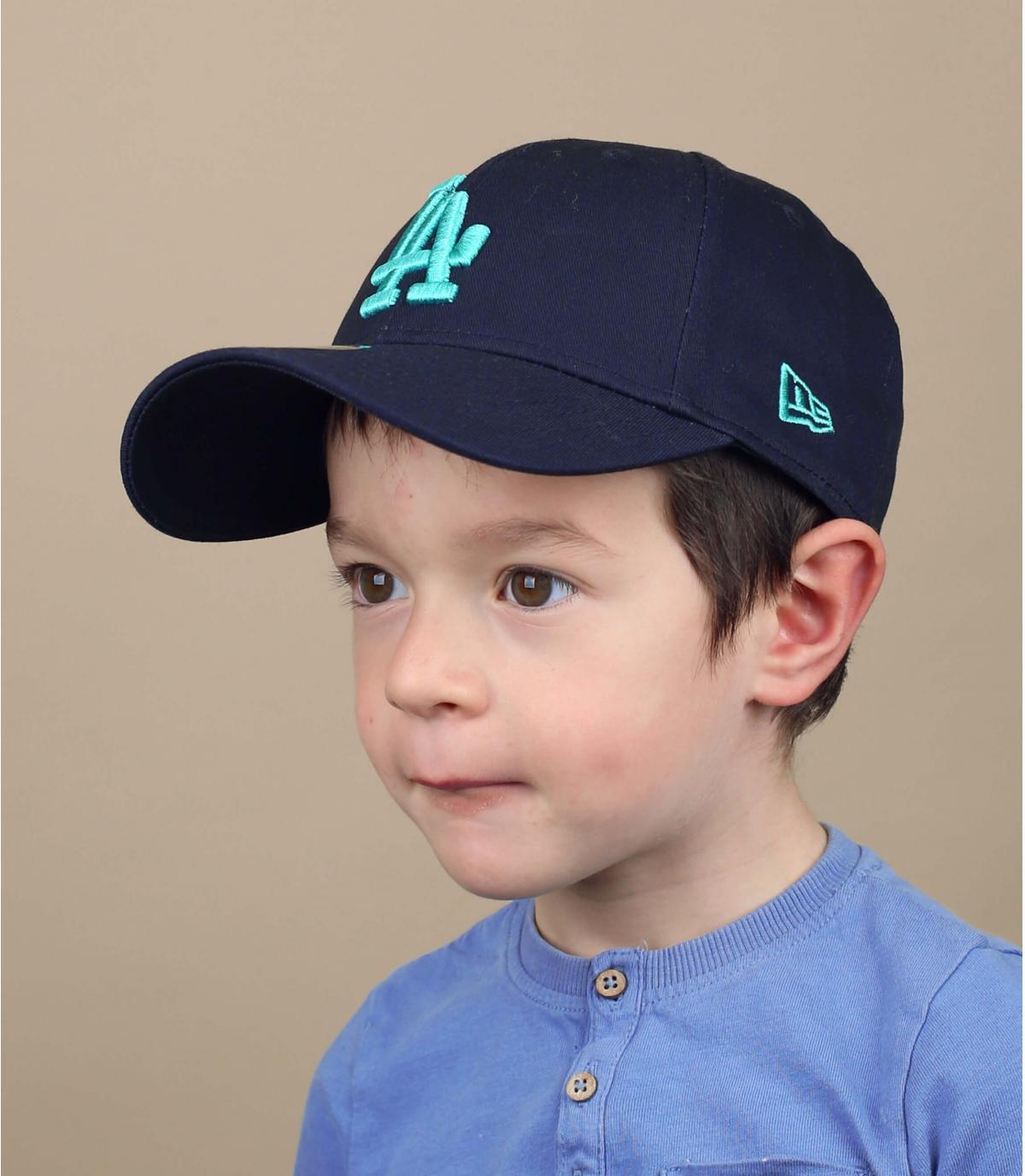 gorra LA niño azul
