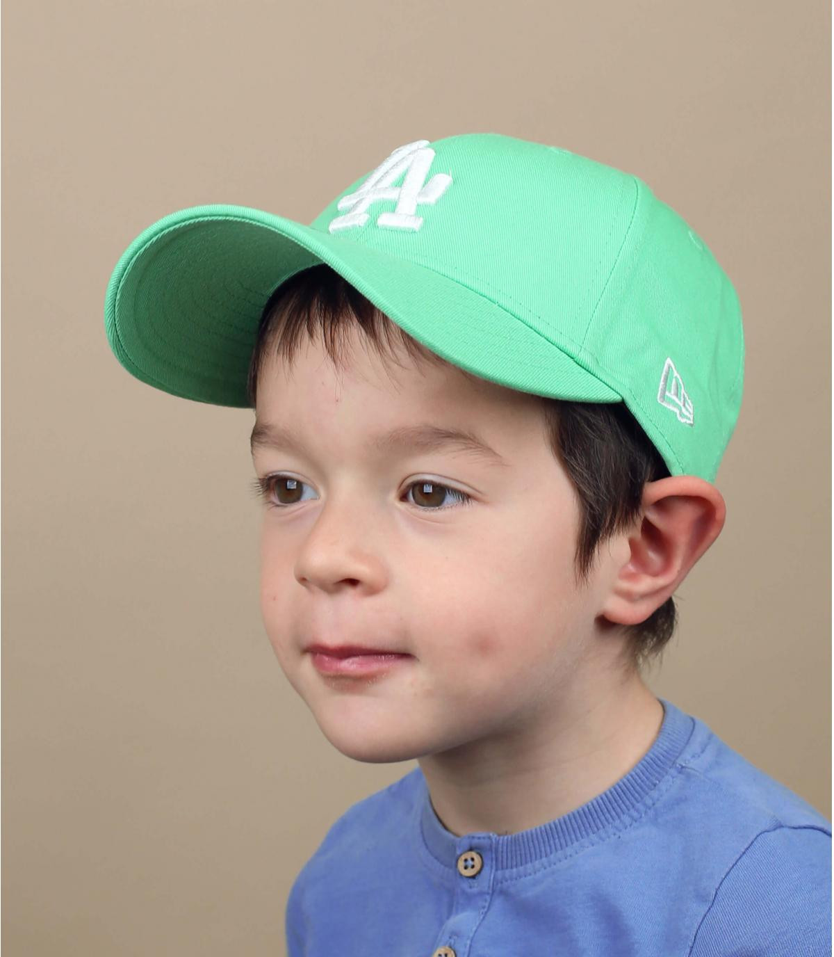 gorra infantil LA azul verde