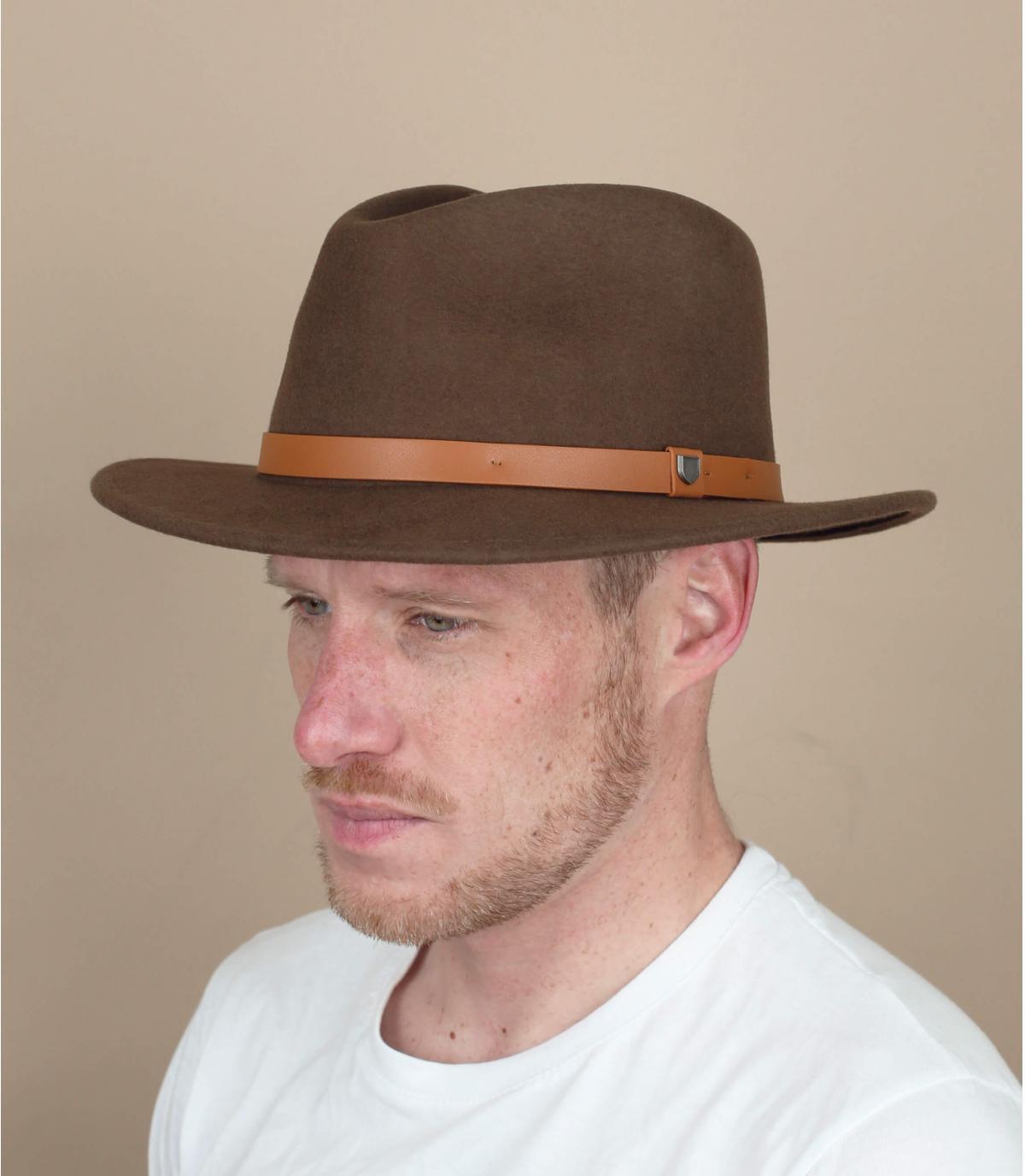 sombrero fieltro marrón Brixton