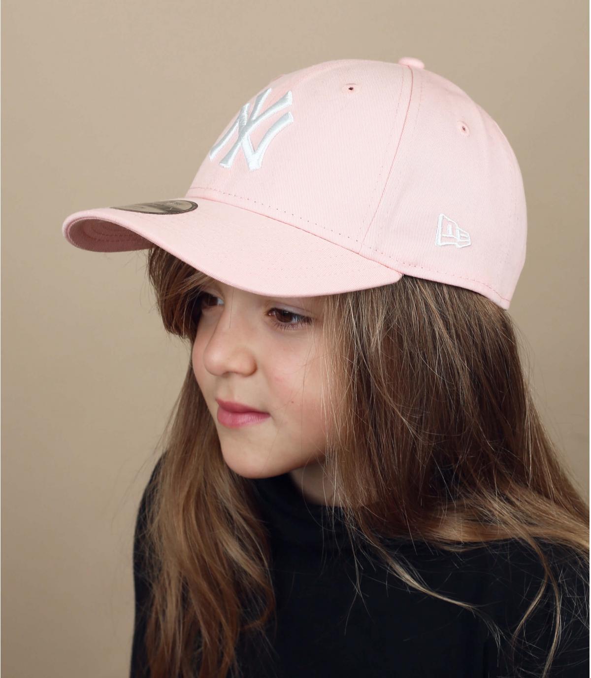 gorra niño rosa NY