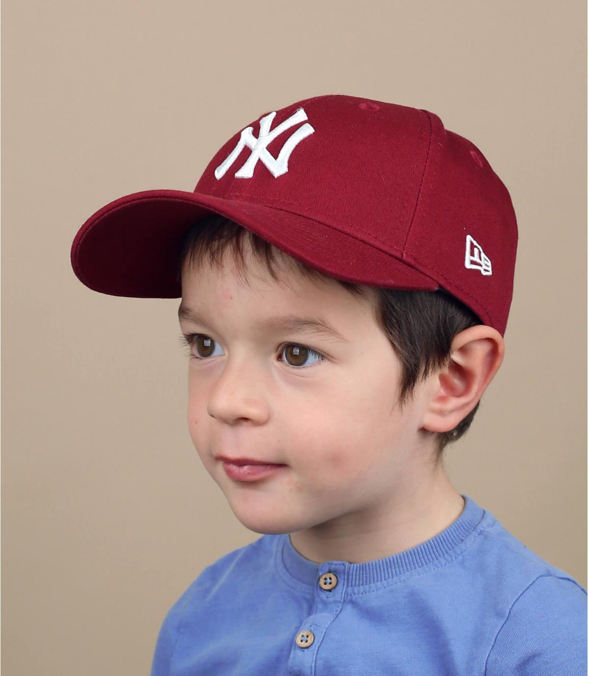 gorra NY rojo niño
