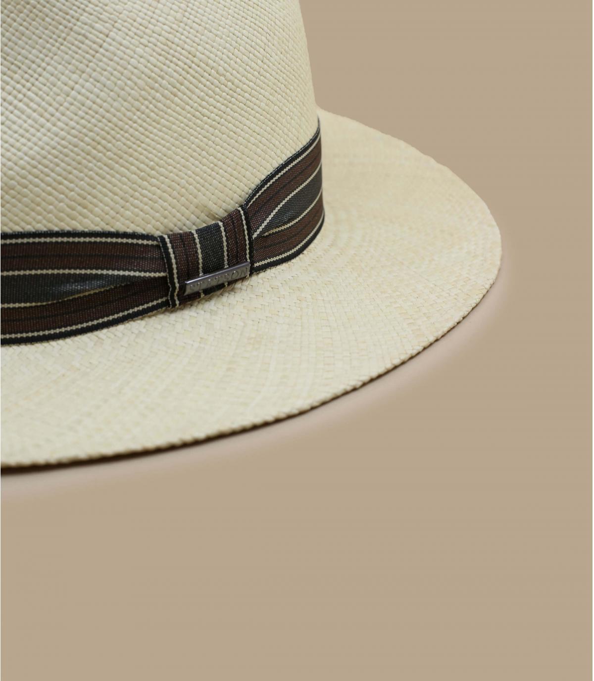 Detalles Fedora Panama natural imagen 3