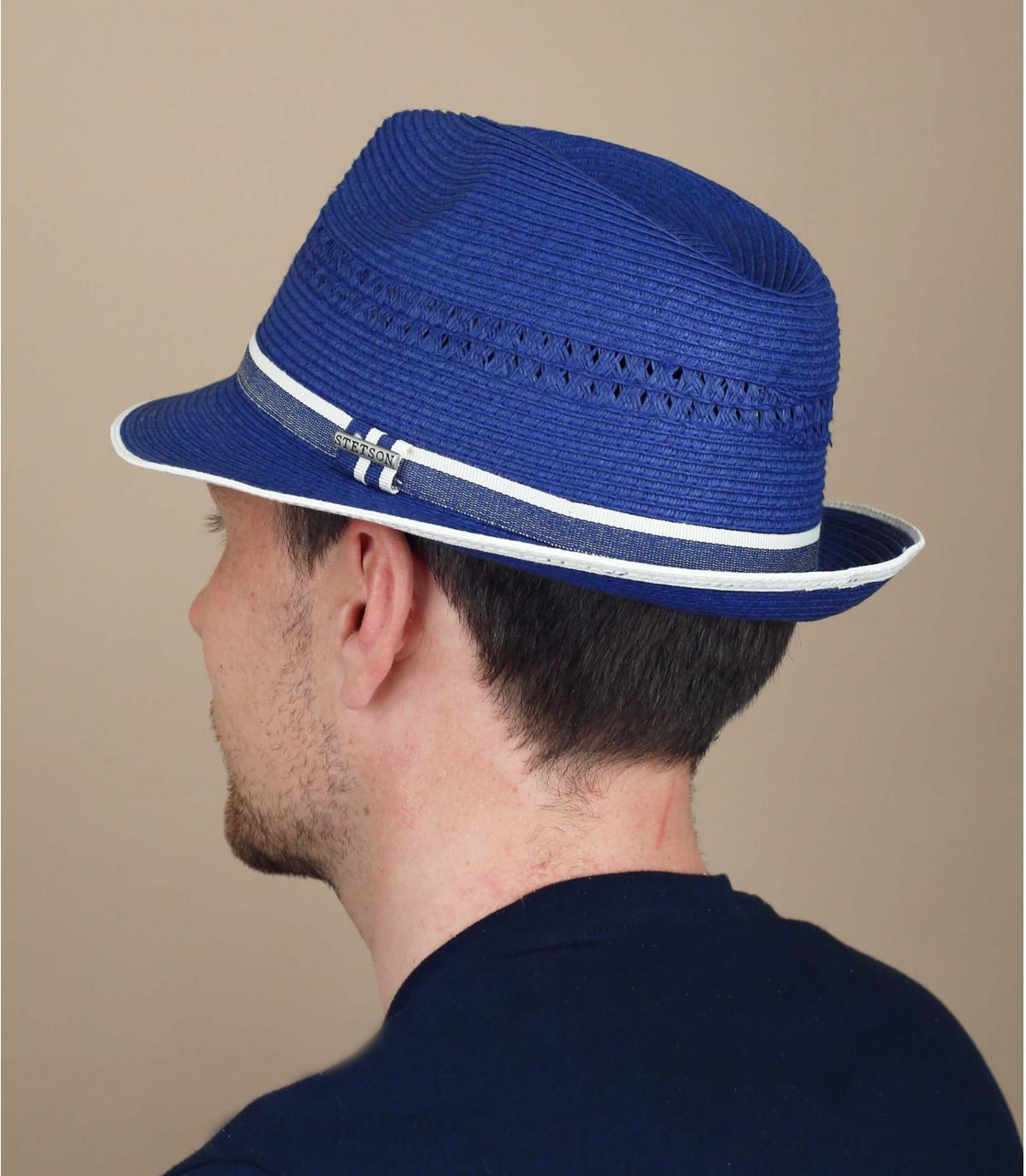 trilby paja azul Stetson