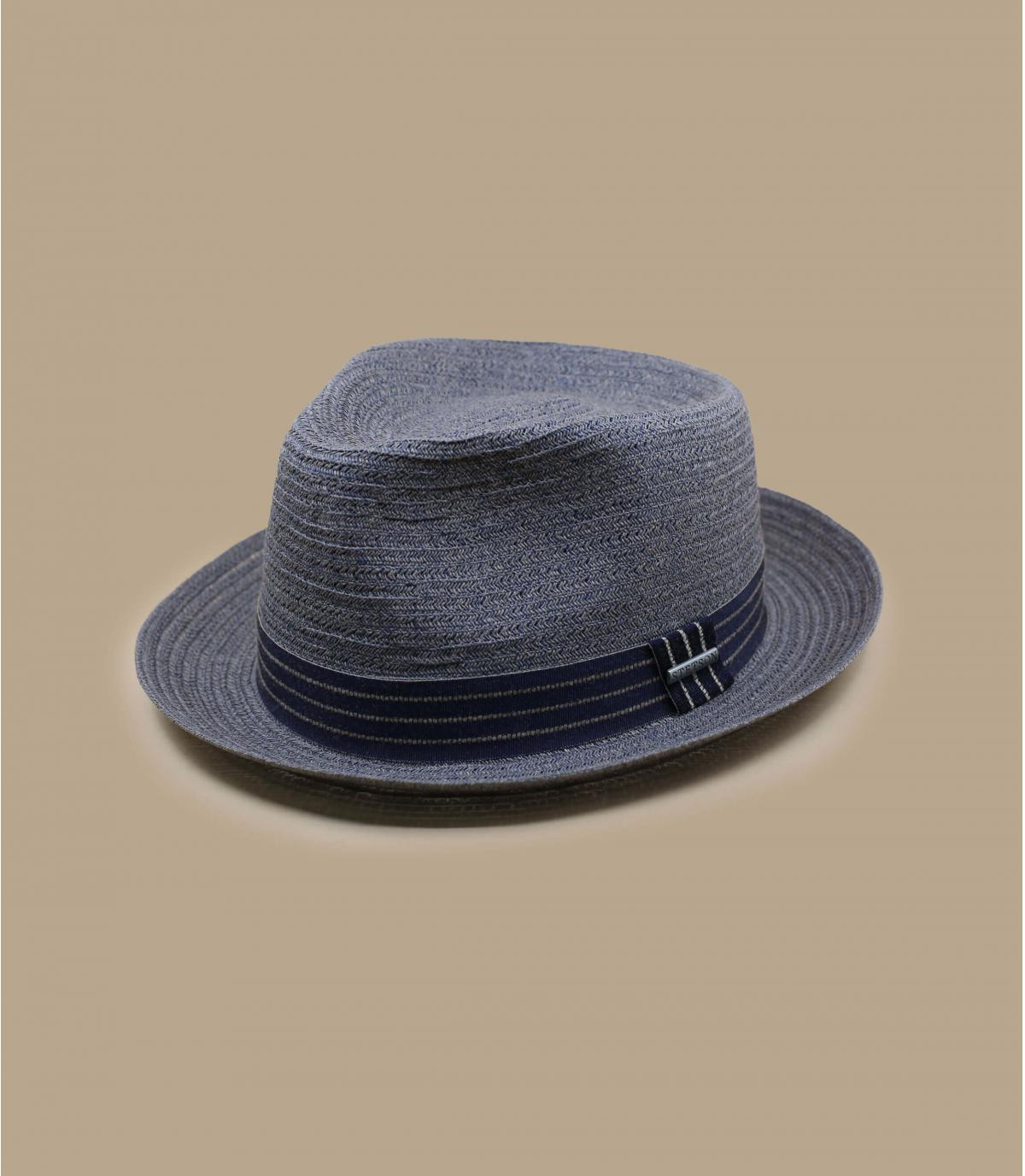Sombrero paja azul gris