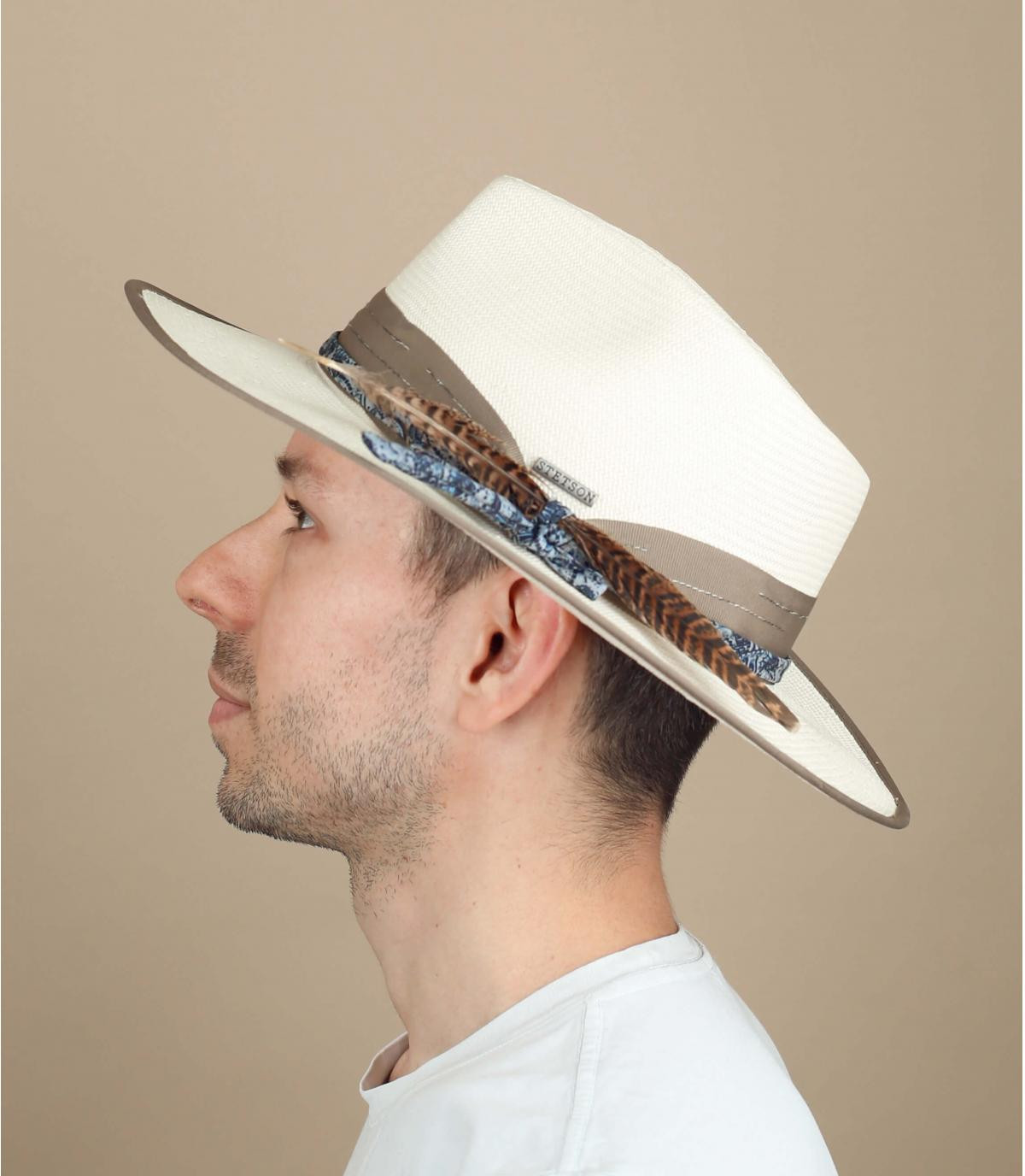 sombrero paja Stetson blanco
