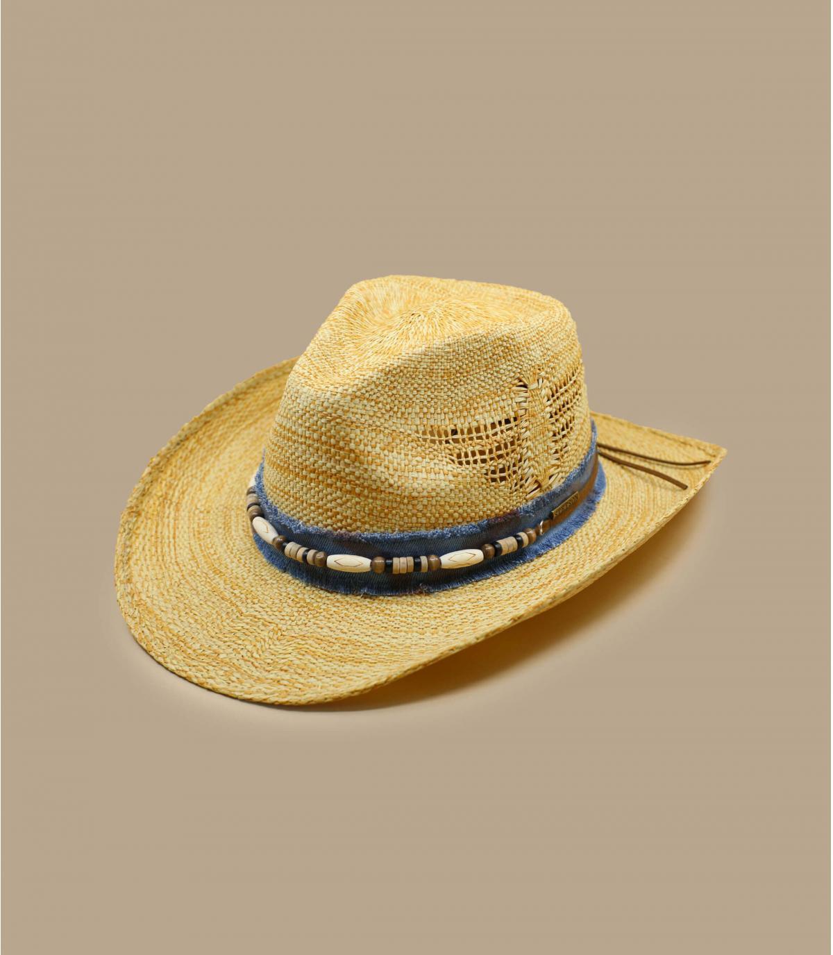 Sombrero vaquero perlas.
