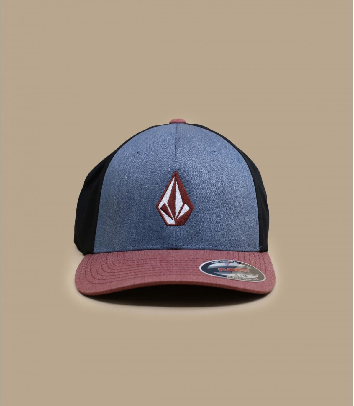 gorra Volcom azul rojo
