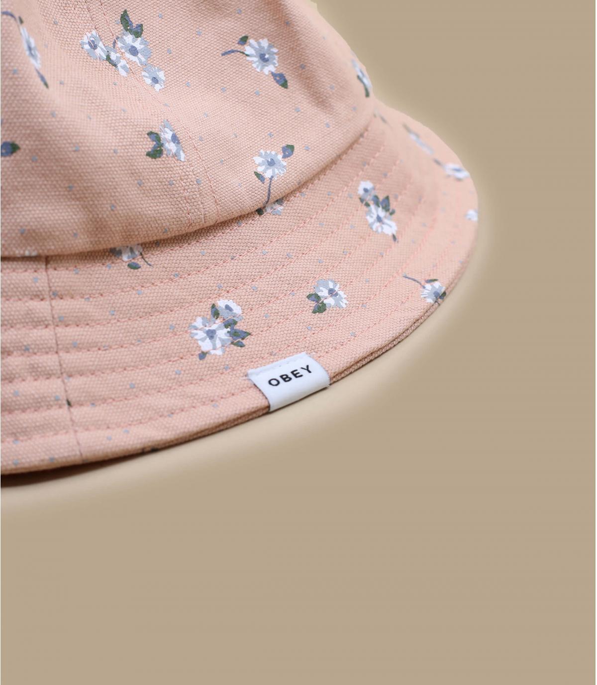 Gorro pescador rosa flores Obey