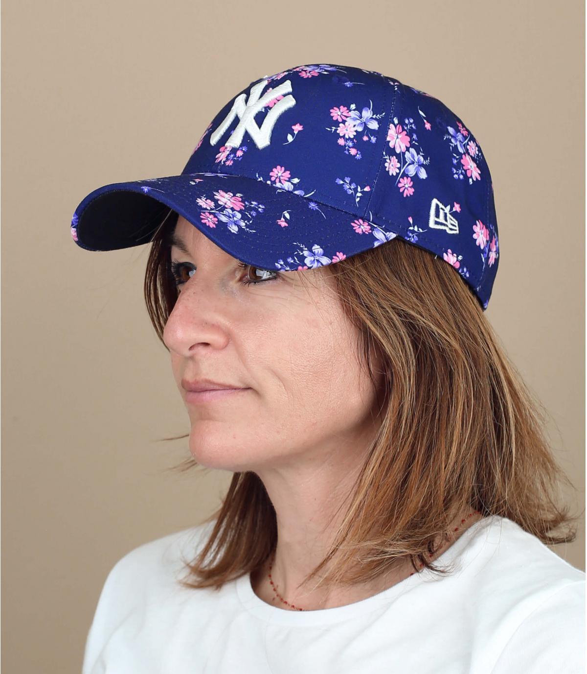 gorra NY mujer flores