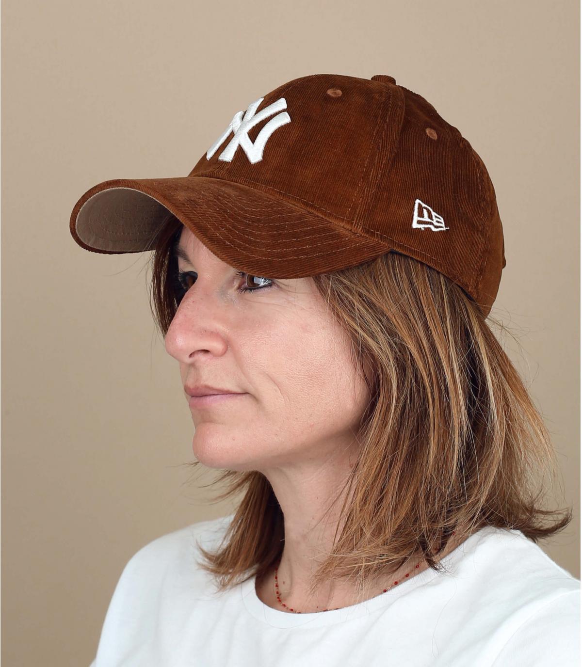 Gorra pana marrón mujer