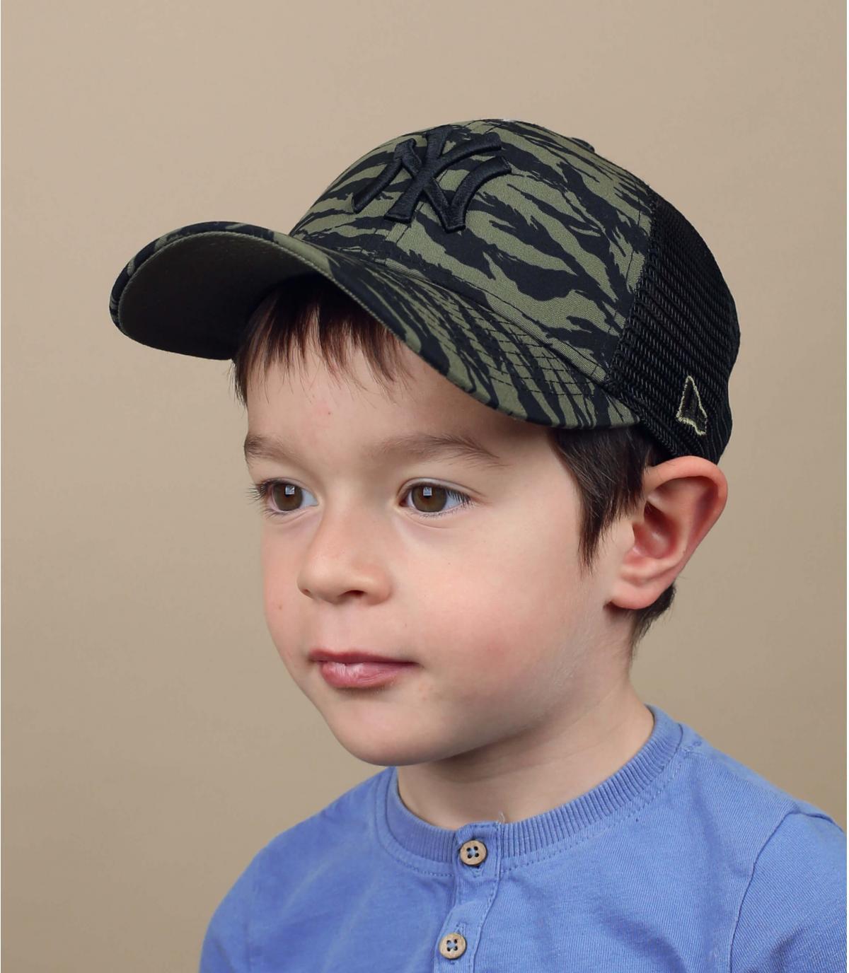 Gorra trucker niño verde NY