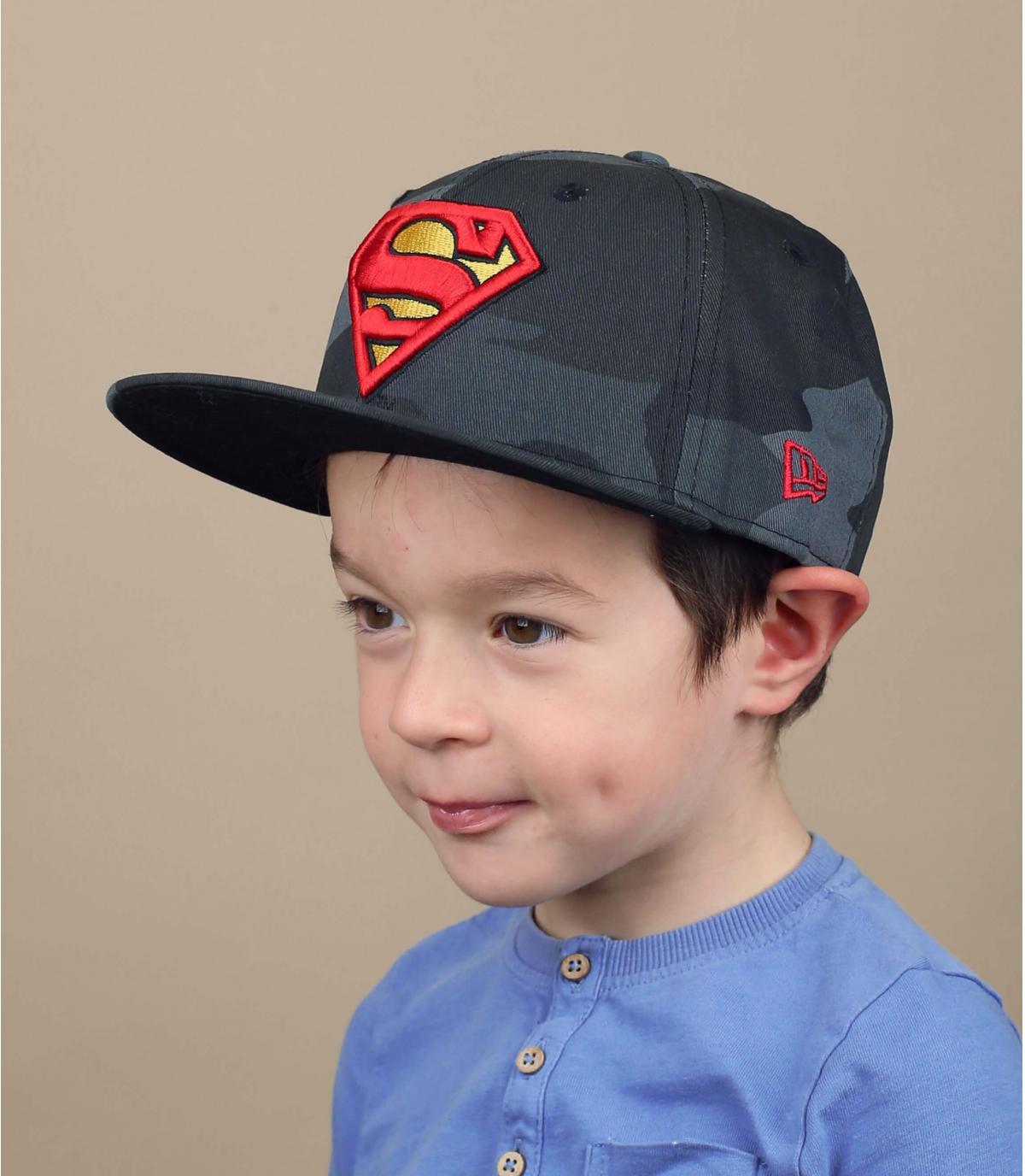 gorra niño Superman camuflaje