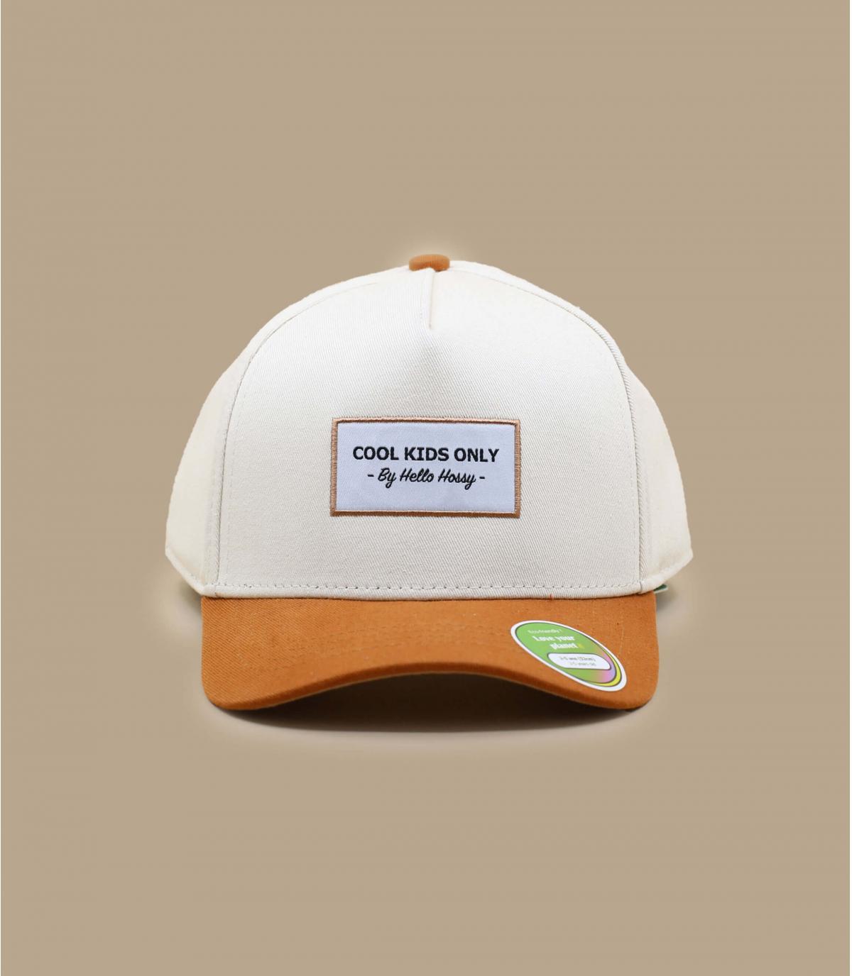 Gorra curva niño beis