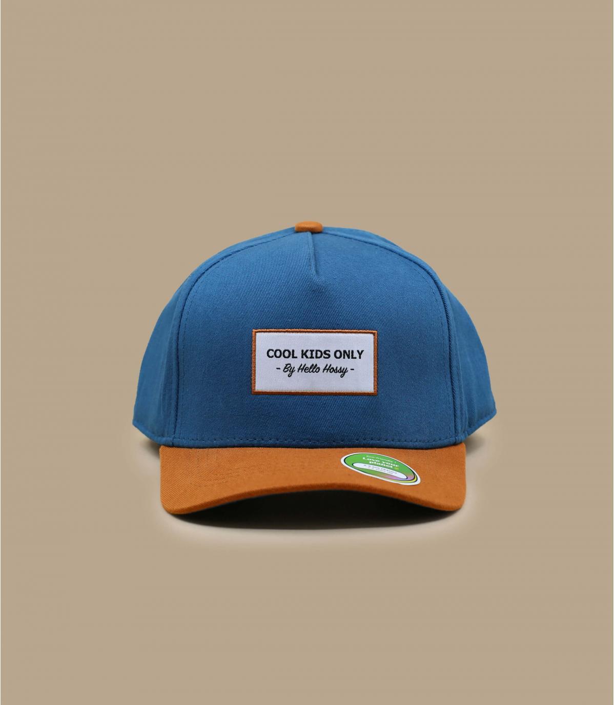 Gorra curva niño azul