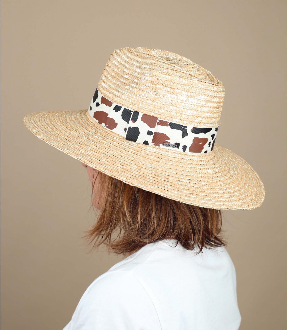 Sombrero paja vaca