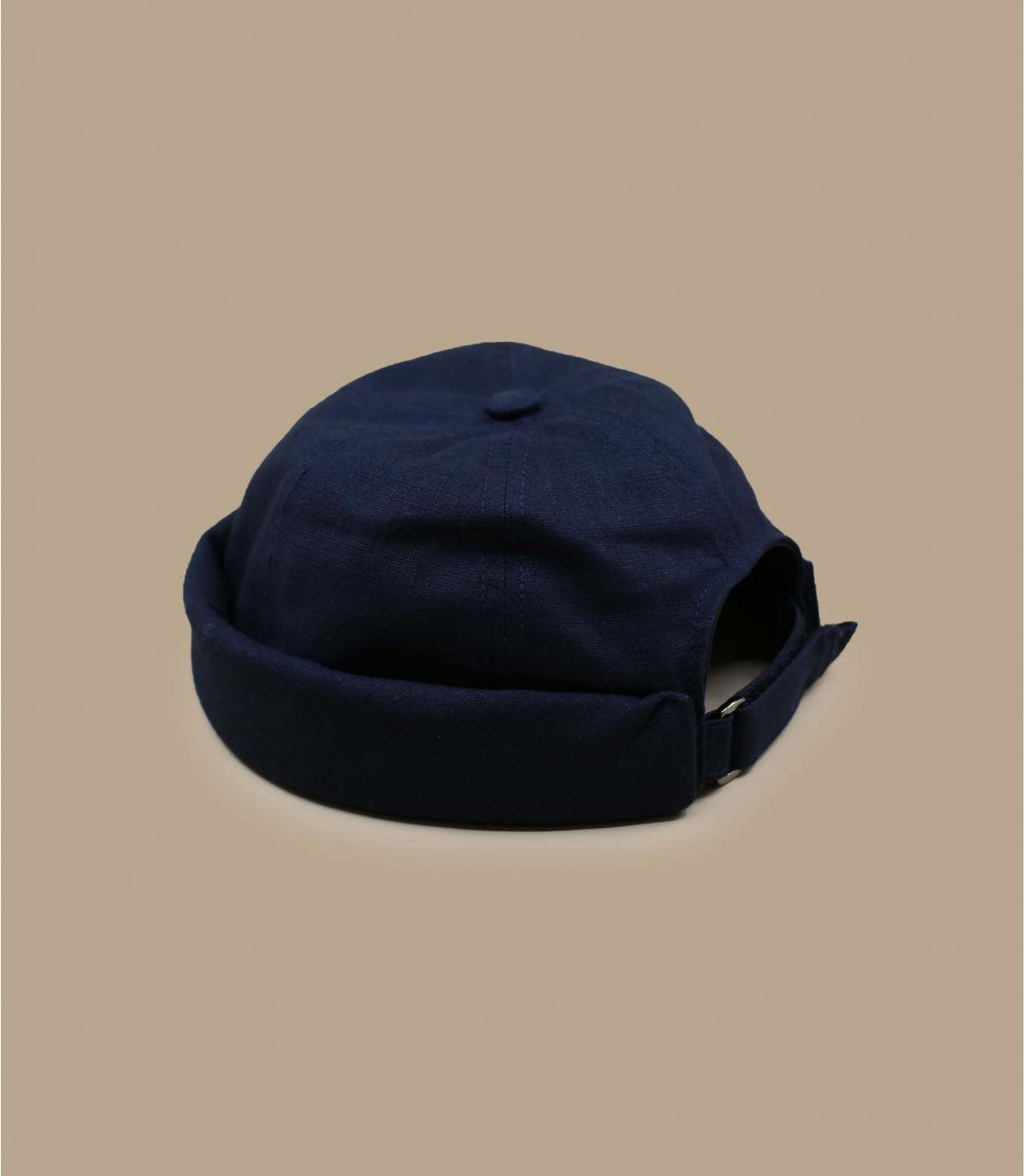 gorro docker lino azul marino