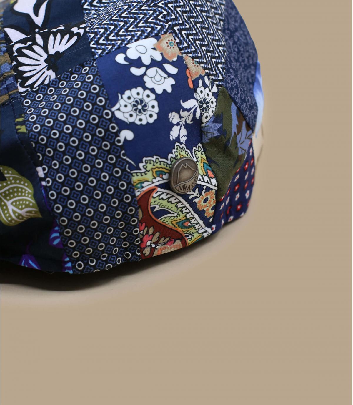 gorra lino patchwork azul