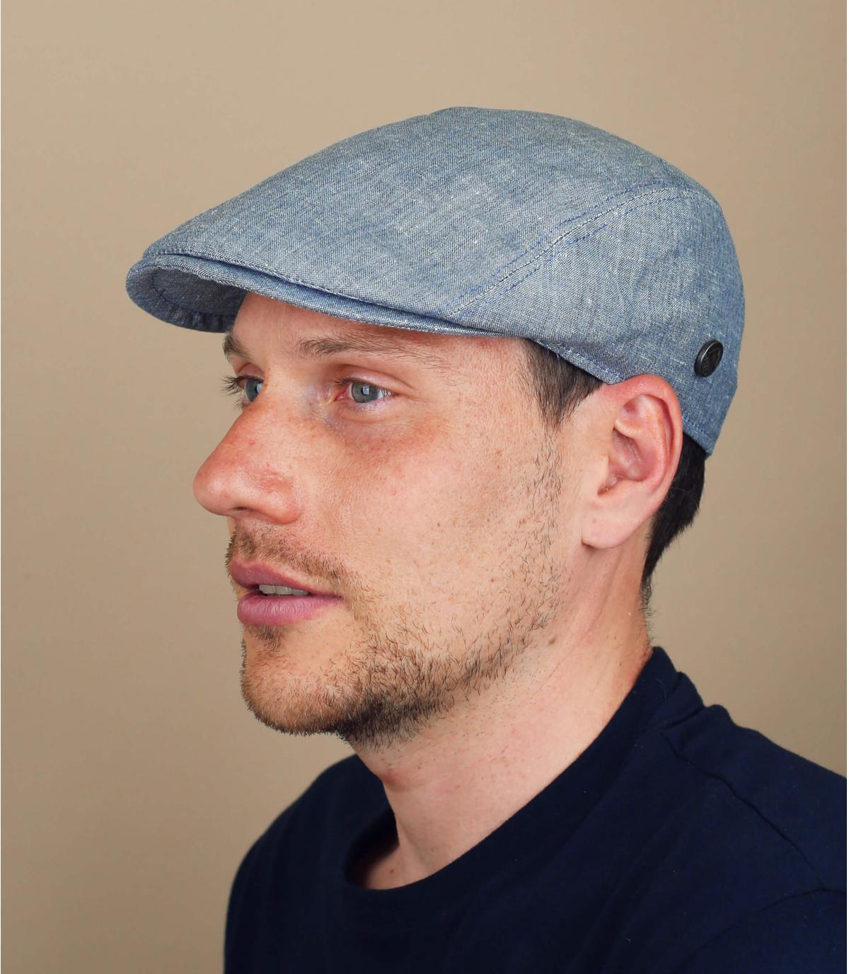gorra lino azul