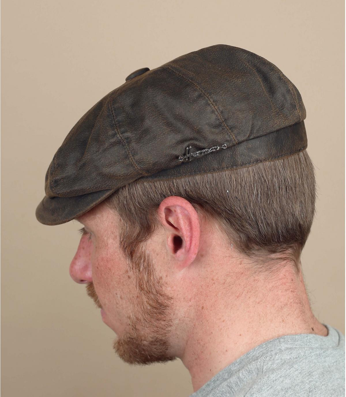 Gorra repartidor marrón algodón encerado