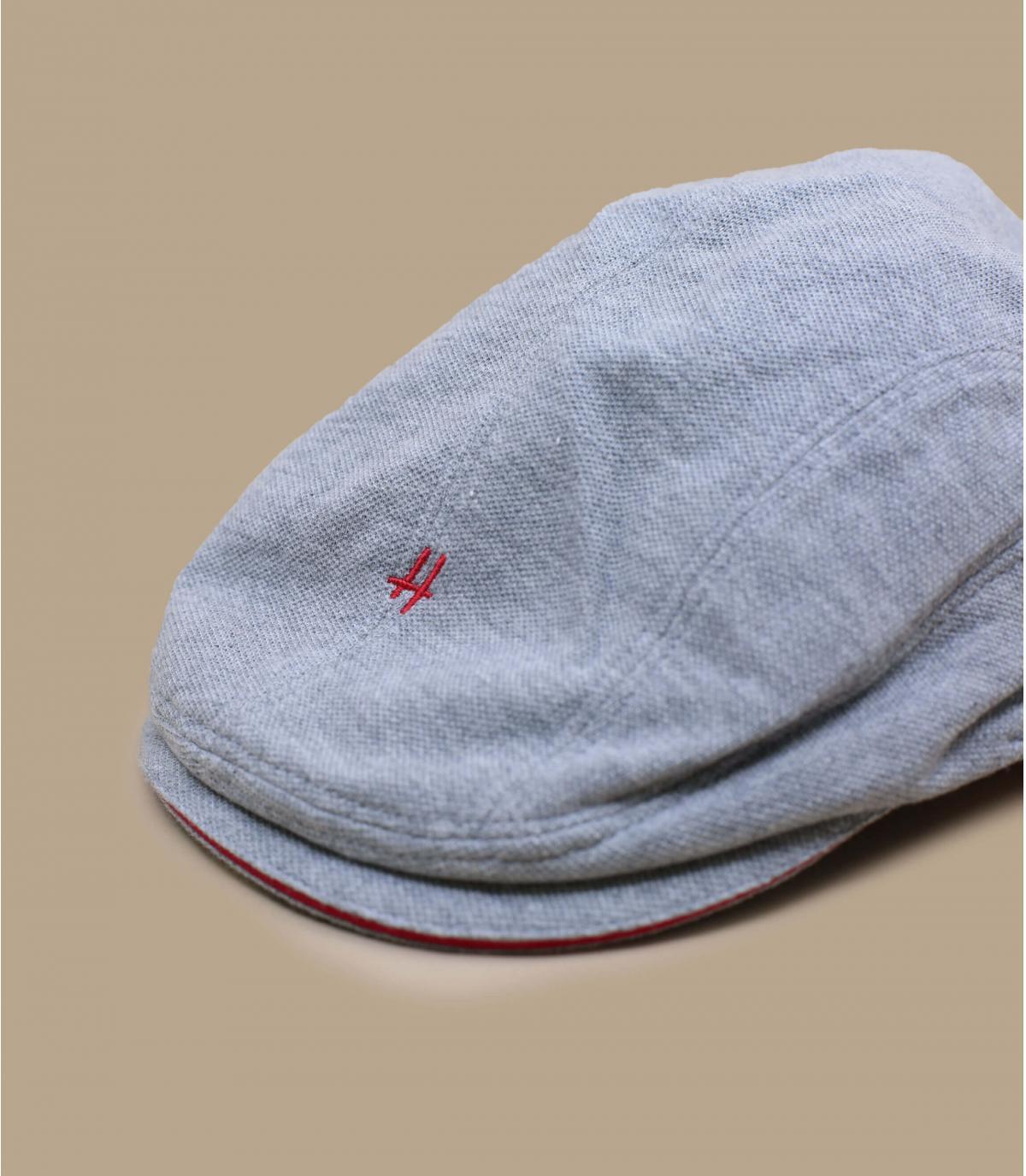 gorra gris algodón
