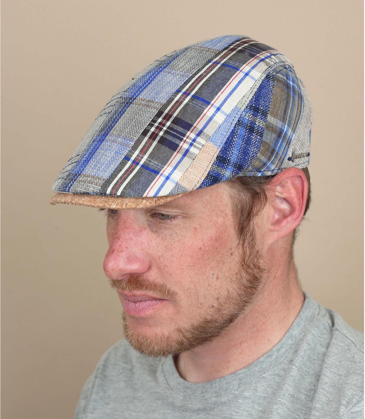 gorra lino patchwork